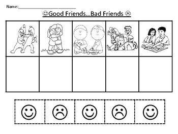 Pin On School Counselor Free kindergarten friendship worksheets