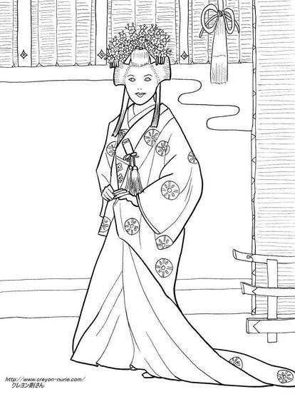 女の子向け お姫様 プリンセスの塗り絵 ぬりえ 無料画像テンプレート素材 ドレス Naver まとめ Princess Coloring Pages Colouring Pages Flower Mural