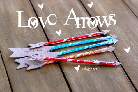 """cupid's arrows"" from pixie sticks."