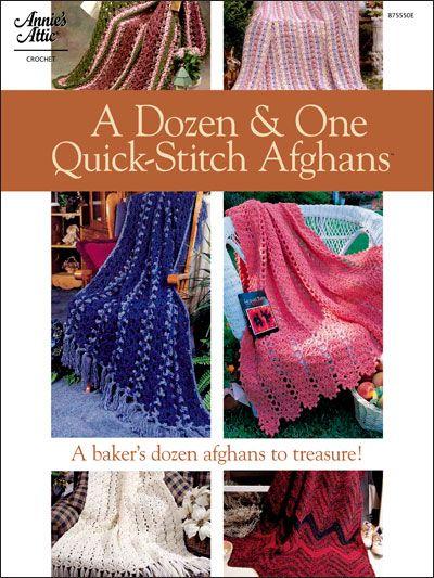Crochet - Afghan & Throw Patterns - A Dozen & One Quick-Stitch Afghans