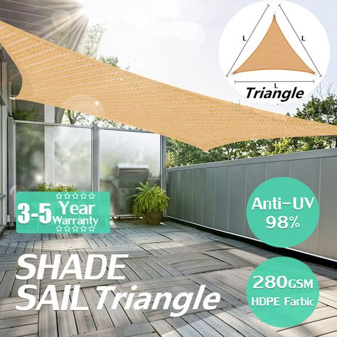 4x4x4m heavy duty sun shade sail outdoor triangle awning canopy rh pinterest fr