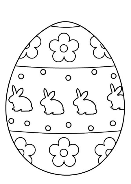 Easter Egg Coloring Pages For Kids - Preschool And Kindergarten Coloring  Easter Eggs, Easter Egg Coloring Pages, Easter Egg Template