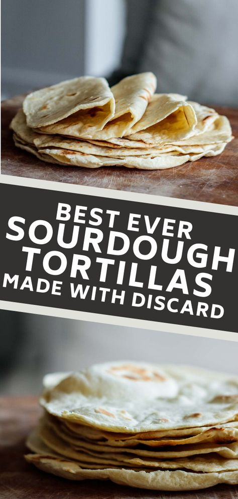 Those sourdough tortillas are a sourdough discard recipe that will make your mornings more delicious! Super easy and quick to make, they are great for a breakfast burrito or a quick lunch. #sourdoughrecipe #sourdoughdiscard #tortilla