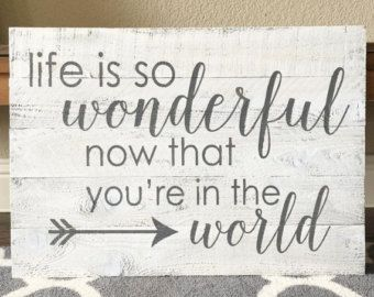 And I Think To Myself What A Wonderful World Sign Rustic Sign