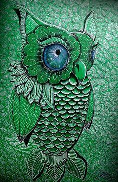 Owl artwork by Paula Wawrzynek - The Owl Pages