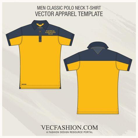 Men Classic Polo Shirt Fashion Flat by VecFashion on @creativemarket