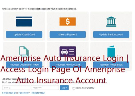 Ameriprise Auto Insurance Login With Images Car Insurance Insurance Login Page