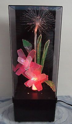 Vtg Retro 80 S Fiber Optic Color Changing Flower Motion Mood Lamp Light Relaxing Mood Lamps Flower Lamp Flower Lights