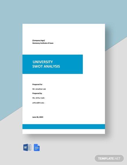 University Swot Analysis Template Free Pdf Google Docs Word Template Net Swot Analysis Template Swot Analysis Analysis