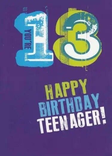 Pin By Monya On Emoji Birthday Birthday Wishes For Kids Happy 13th Birthday Happy Birthday Images