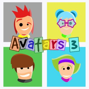 The Third Pack Is Here Use These Avatars In Activities Games Lessons Etc This Set Includes The Following Images On 300dpi H Avatar Clip Art Activities