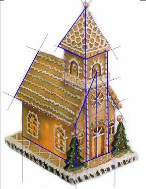 gingerbread house template church  Gingerbread Church Pattern Sos!!!!!!!!! in 7 ...