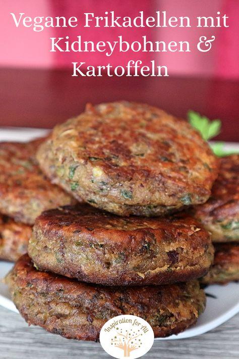 Vegane Kidneybohnen Frikadellen aus der Pfanne | einfaches und schnelles Rezept für vegetarische Frikadellen mit Kidney Bohnen und Kartoffeln #KidneybohnenFrikadellen #KidneybohnenFrikadellenVegan