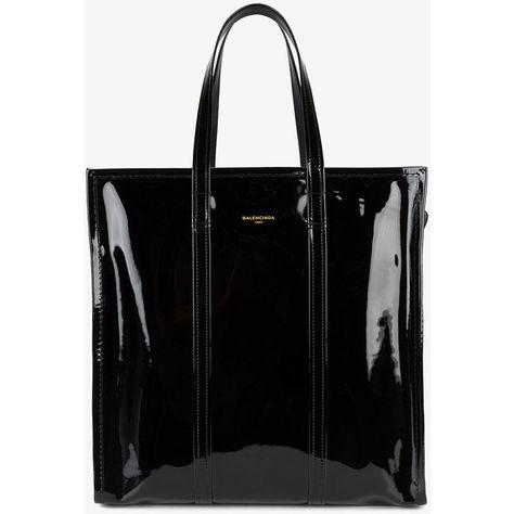 Balenciaga Medium Black Patent Bazar Shopper Bag ($1,950
