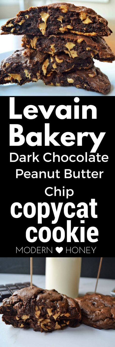 Levain Bakery is one of the most popular bakeries in the world. Dark Chocolate Peanut Butter Chip Cookies are one of their best selling cookies. Here's the copycat recipe so you can eat Levain Bakery cookies at home.