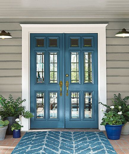 Behr Color of the Year 2019 - Front Door   Behr just announced its Color of the Year 2019, and it's the most soothing shade—here's how to use it in your home.