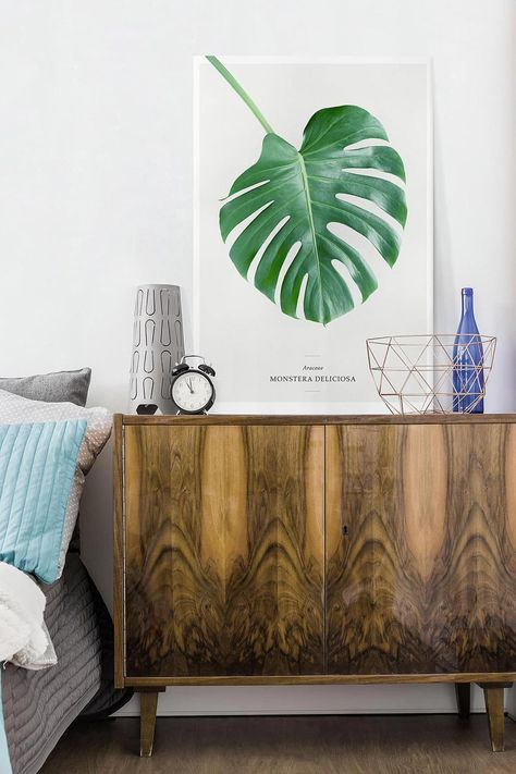 Stampa su tela - Tropical Leaf Monstera - Verticale 3:2 ...