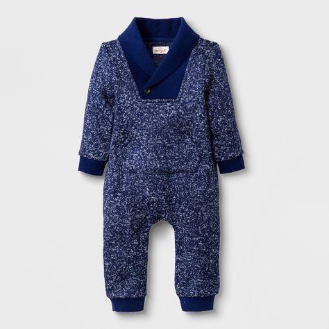 04437bd9fd7d Baby Boys  Sweater Knit Shawl Romper with Kangaroo Pocket - Cat ...