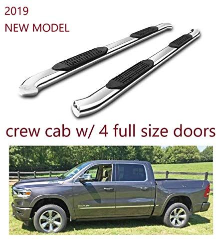 Refineon Side Steps Running Boards Fit 2019 2020 Dodge Ram 1500 Crew Cab New Body 4 Full Size Doors No 2019 Classic 4 Ch Dodge Ram 1500 Crew Cab Dodge Ram