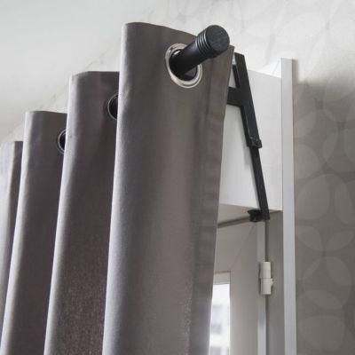 2 Supports Sans Percage Volet Roulant Colours Loik Noir Et Argent O28 Mm En 2020 Volet Roulant Volet Et Argent