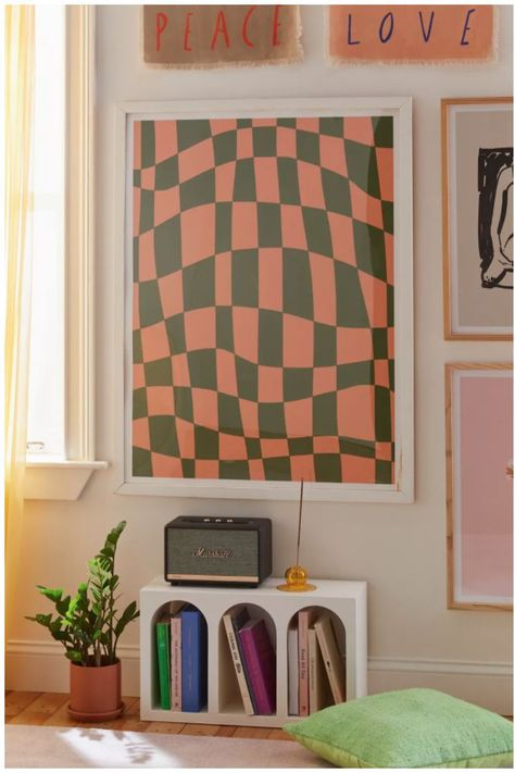 A fave reinvented, this checkerboard art print by Little Dean features a warped scale rendered in a fresh palette we love. Printed on archival paper made from cotton pressed in Italian mills, this high-quality art print is available in sizes and frames just right for your space. At Urban Outfitters