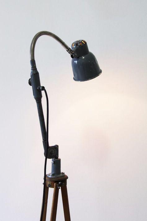 Industrieleuchte Stehlampe Loft Stehleuchte Retro Lampe Metall Leuchte Fabrik