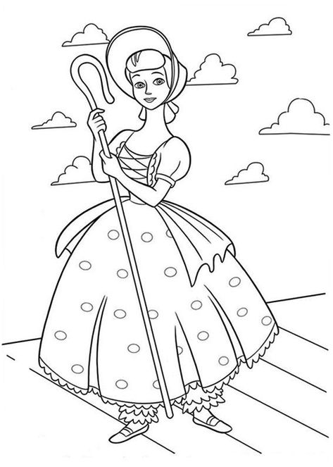 Download Or Print This Amazing Coloring Page Little Bo Peep