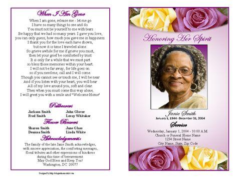 memorial service programs sample Sample Memorial Service - funeral service announcement template