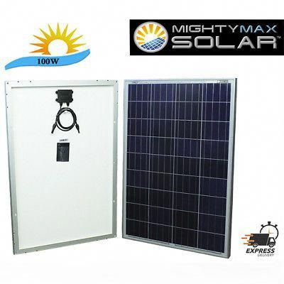 Mighty Max Mighty Max 100 Watts 100w Solar Panel 12v Poly Off Grid Battery Cha Outdoor Shop And More In 2020 Solar Panels Solar Solar Energy Panels