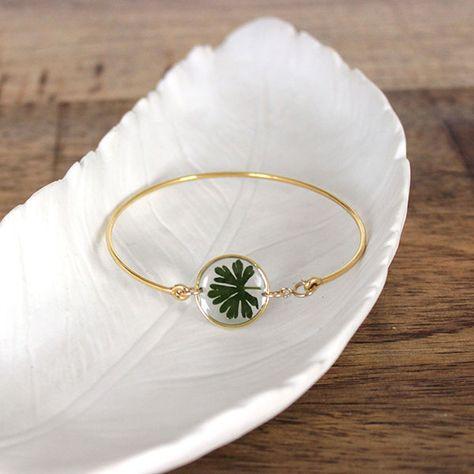 Bracelet végétal résine uv led