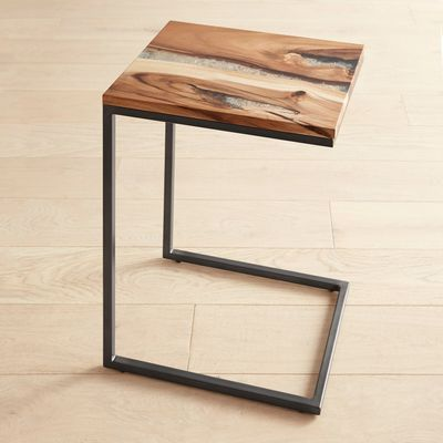 Moraine Wood Clear Resin C Table C Table Furniture Design