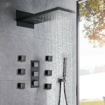 Cahoon Complete Shower System With Rough In Valve Shower Systems Bathroom Remodel Master Stone Shower