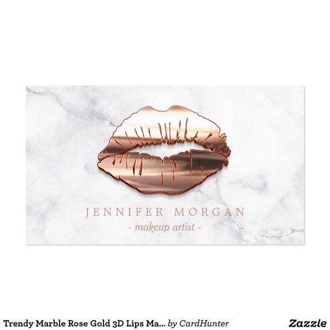 Trendy Marble Rose Gold 3D Lips Makeup Artist Business Card #style #shopping #styles #outfit #pretty #girl #girls #beauty #beautiful #me #cute #stylish #photooftheday #swag #dress #shoes #diy #design #fashion #Makeup