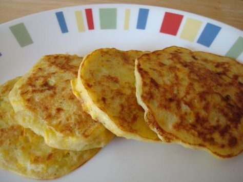 Squash Pancakes from Food.com:   These are savory pancakes and my favorite way to eat summer squash.  I could eat a whole batch myself.