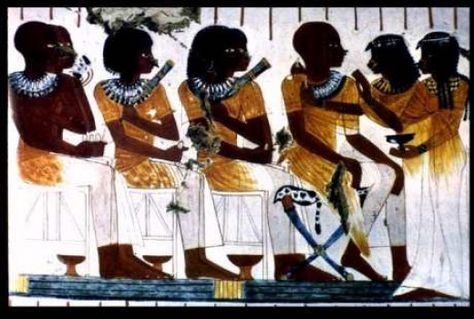 The African Origin of Egyptian Civilization. Banqueting Scene, tomb of Nebamum and Ipuky