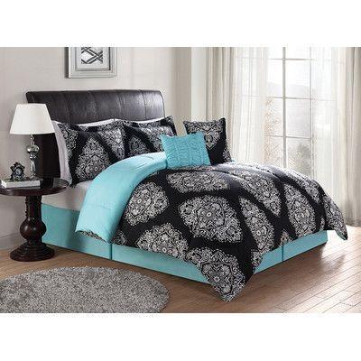 All Time Best Ideas Decorative Pillows Turquoise Blue Decorative Pillows Pink Gray Decorative Pillow Bedroom Comforter Sets Blue Comforter Blue Comforter Sets Teal and black bedding sets