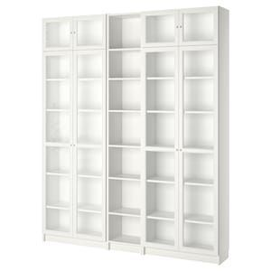 Library Discover Billy Oxberg Bookcase White 78 3 4x11 3 4x93 1 4 Ikea Billy Oxberg Bookcase White 78 In 2020 Bookcase With Glass Doors White Bookcase Bookcase
