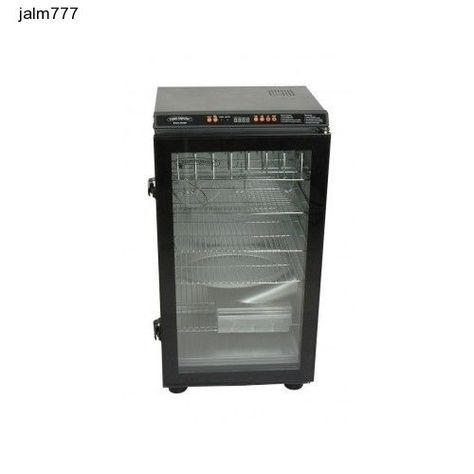 Electric Smoker Ribs Jerky Bbq Grill Barbeque Food Smokers Glass