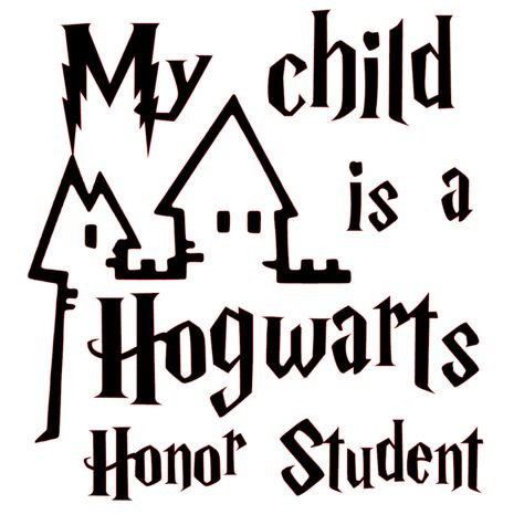 Harry Potter My Child is a Hogwarts Honor Student Vinyl Decal Sticker - Navy