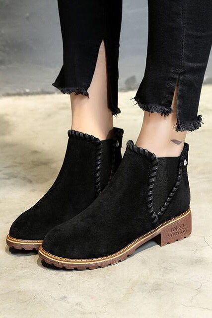 Autumn Winter Black Ankle Boots | Boots