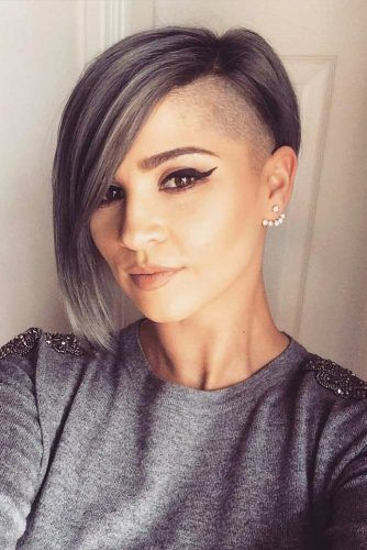 35 Types Of Asymmetrical Pixie To Consider Lovehairstyles Com Shaved Side Hairstyles Thick Hair Styles Long Bob Hairstyles