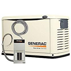 Generac 6461 Guardian Series 16kw Air Cooled Standby Generator Natural Gas Liquid Propane Powered Steel Enclosed With 16 Circuit 100 Amp Prewired Ez Automatic Transfer Switch Transfer Switch Cool Stuff Solar Panels For Home