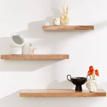 32 Inch Mango Wood Floating Shelf Google Search Floating Shelves Modern Floating Shelves Industrial Floating Shelves