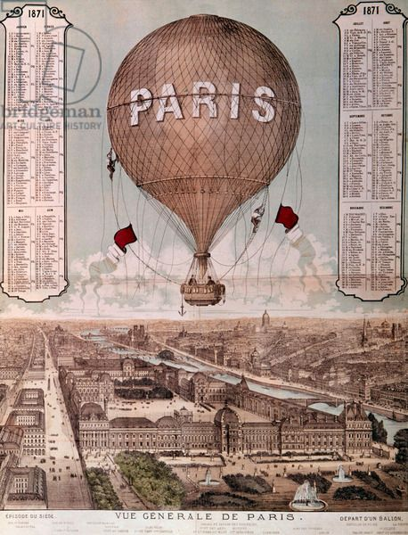 During the siege of Paris, hot air balloon were used to ...