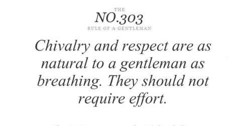 #Quotes #Boys #Men #Gentleman #Rules #Lady