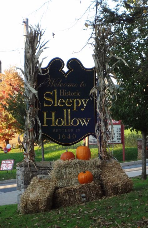 Stay a couple nights in Sleepy Hollow , New York & do a nighttime cemetery lantern tour! Sleepy Hollow New York, Legend Of Sleepy Hollow, Dream Vacations, Vacation Spots, Sleepy Hollow Halloween, Fall Halloween, Halloween Season, Halloween 2018, Haunted Places