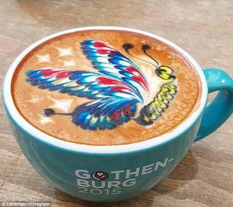 Instagram user Caleb Tiger makes incredible latte art with food ...