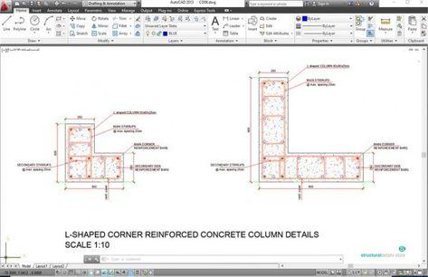 L Shaped Corner Column Reinforcement Details | design | Concrete