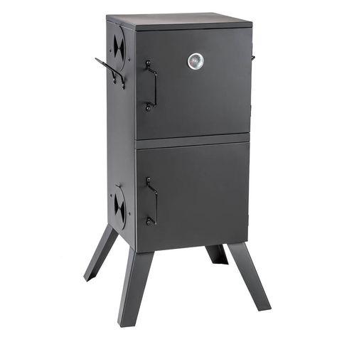 XXL 80 cm elektrischer Räucherofen Räucherschrank Räuchertonne Smoker  Scheibe