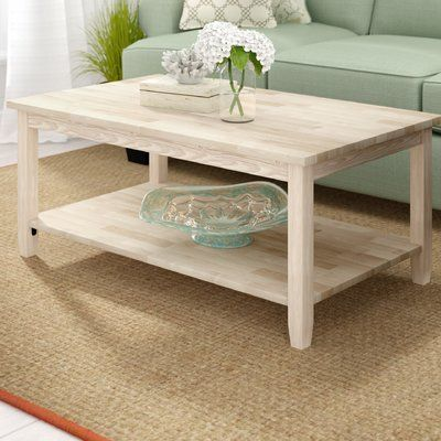 Beachcrest Home Cosgrave Coffee Table Unfinished Coffee Table Furniture Coffee Tables For Sale